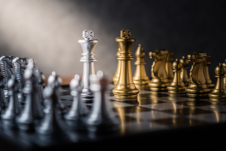 chess board game concept of business ideas and competition and stratagy plan success meaning Archivio Fotografico
