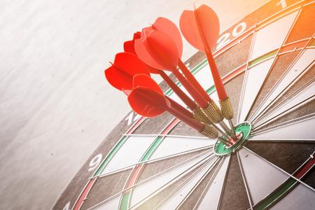 dartboard business stretegy ideas concept