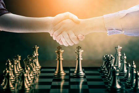 chess board game concept of business ideas and competition and success concept