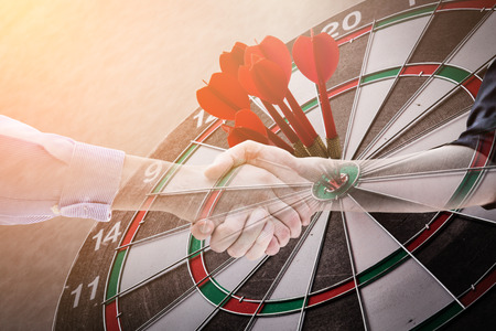 dartboard business stretegy ideas concept