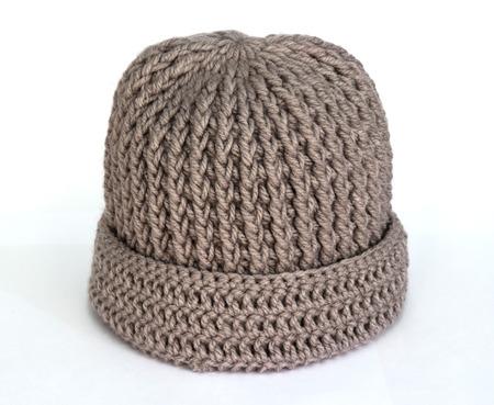 knitten: Hats Knitting Handmade on white background