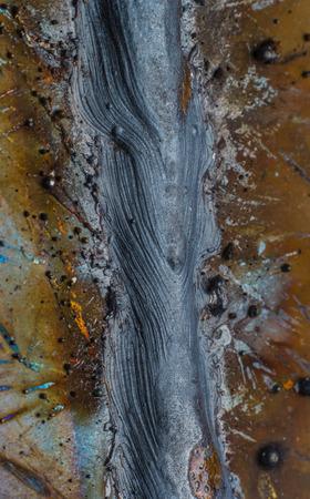 soldadura: cord�n de soldadura en soldadura de chapa de acero de metal de acero industrial en la f�brica
