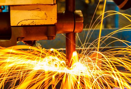 welding machine: Spot welding machine Industrial automotive part in factory Stock Photo