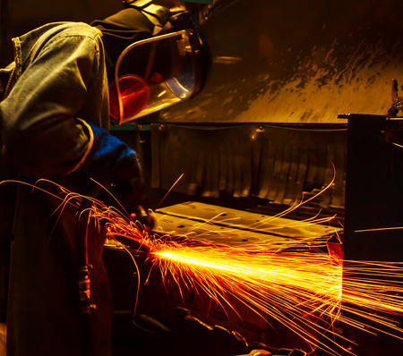machinist: assembling, auto, automobile, car, construction, craftsman, damage, fire, fix, fixing, garage, grinder, handyman, industrial, industry, labor, machinery, machinist, man, manufacture, manufacturing, mechanic, metal, preparation, problem, renovation, repair Stock Photo