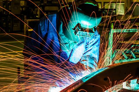 improvisation: welder Industrial automotive part in factory