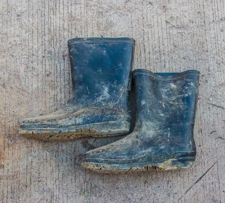 galoshes: Plastic boots Stock Photo
