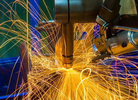 Machine Spot nut Automotive Industry Stock Photo