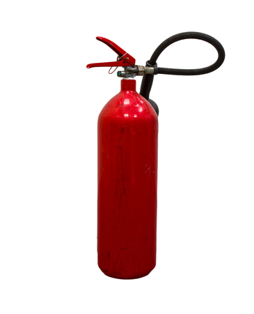 fire extinguishers: Red fire extinguishers available in emergencies.