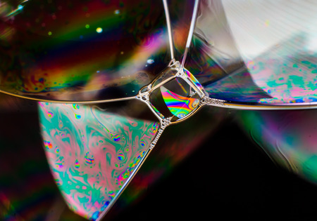 balance rainbow colors: Rainbow colors created by soap bubble can use for background Stock Photo