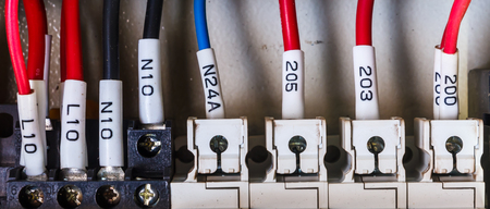 wiring: Wiring -- Control panel with wires