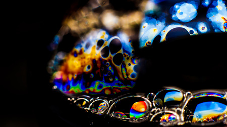 balance rainbow colors: Rainbow colors created by soap, bubble,or oil makes can use for background