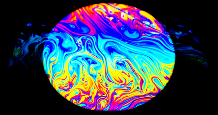 Rainbow colors created by soap, bubble,or oil makes can use for background