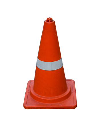 Traffic cone Orange Isolate on white