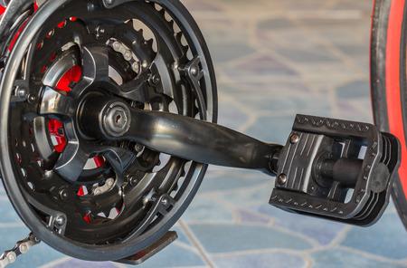 rack mount: Gear bike Stock Photo