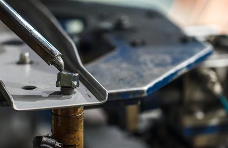 Spot welding machine, Reklamní fotografie