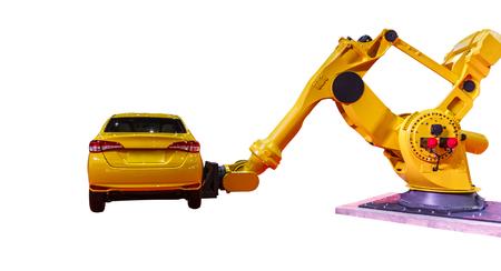 Industrial robots for welding & handling on white background Reklamní fotografie