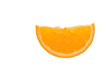 Orange slice, isolated on white background 스톡 콘텐츠