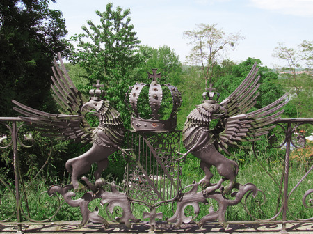 feudalism: Emblem from wrought iron of the Grand Duke Friedrich, Mainau Island