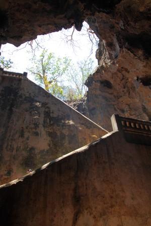 Khao Luang cave exit, Petchaburi, Thailand photo
