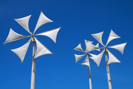 green power with modern turbine. photo