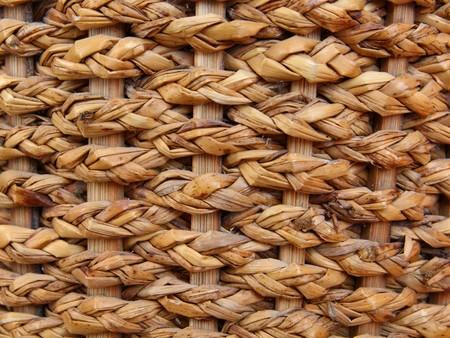 woven surface: Tejida de textura de fondo de patr�n de cesta de mimbre marr�n