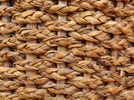 Woven brown wicker basket pattern background texture  Stock Photo - 7420102