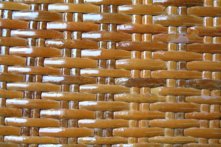 Woven brown wicker basket pattern background texture Stock Photo - 7480033