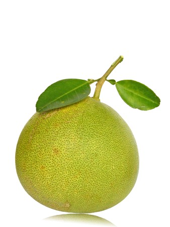 Pommelo isolated on white background. Pommelo is tropical fruit.