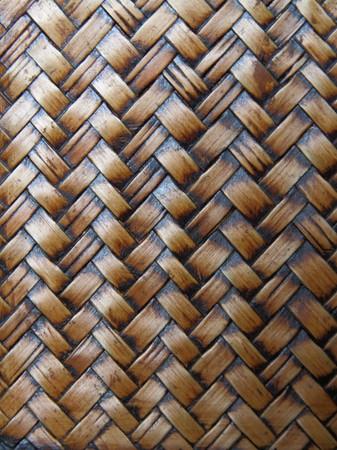 Woven brown wicker basket pattern background texture  Stock Photo - 7559796