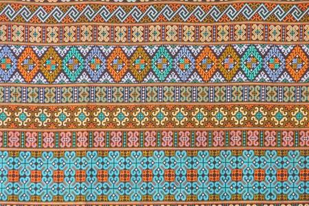 Thai hand-made fabric pattern Stock Photo