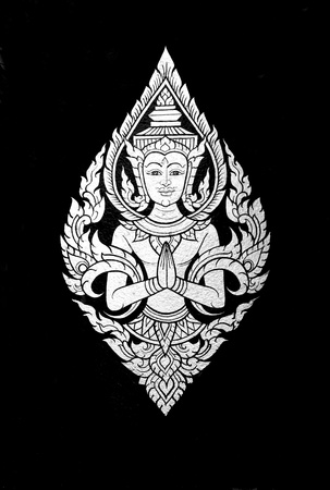 fine gold: Traditional Thai art, Hello god.