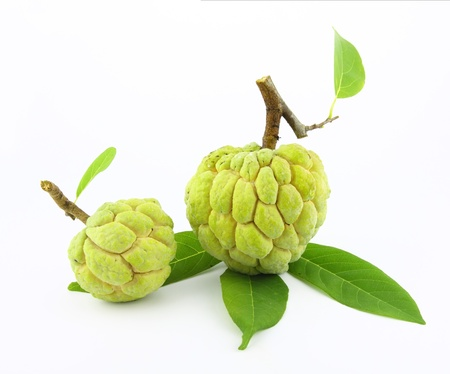 sop: Fresh sugar apple isolated on white background.