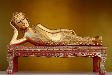 The reclining Buddha in Myanmar Style. Stock Photo - 11886468