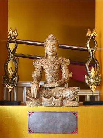 sitting buddha in myanmar style.