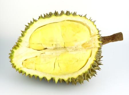 Durian: Sầu riêng trái cây trên nền trắng, sầu riêng là vua của trái cây nhiệt đới Kho ảnh
