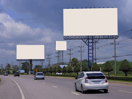 blank billboard on highway for your advertising