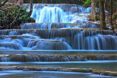 Huay Mae Khamin, beautiful waterfall in Thailand photo