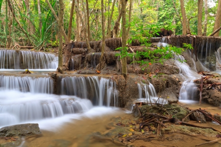 khamin: Huay Mae Khamin, beautiful waterfall in Thailand