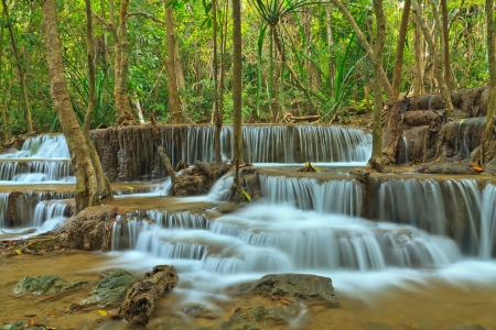 Huay Mae Khamin, beautiful waterfall in Thailand photo