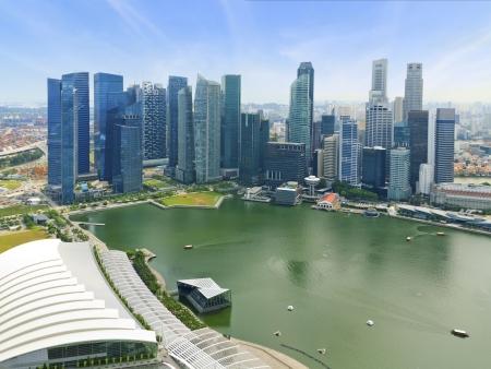 bird s eye view: bird s eye view of The Singapore Business center