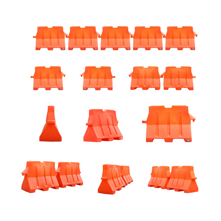 collection of PVC barrier isolated on white background  So easy to use