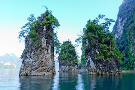 wonderful island at Chiao Lan dam lake,Surat Thani , Thailand.