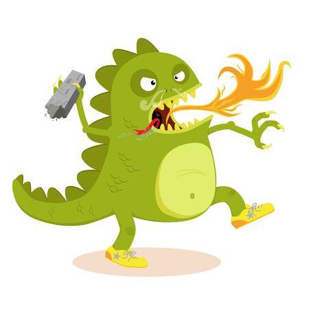 Cartoon Lizard Monster