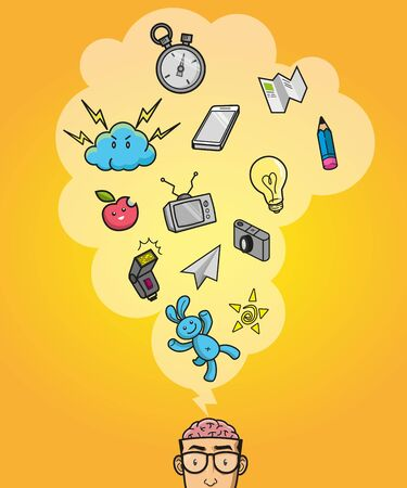 Creative Thinking illustration Vettoriali