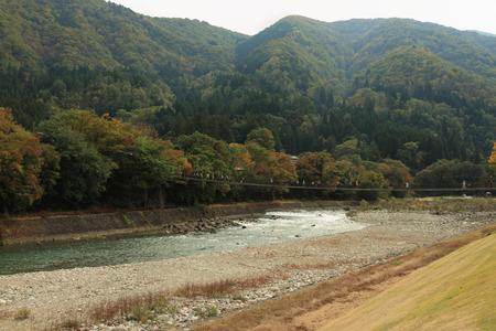 scenario: mountain and river scenario Stock Photo
