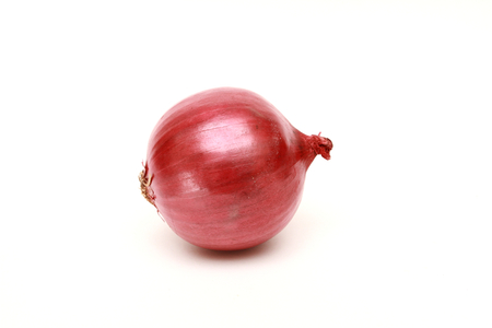 aftertaste: isolated red onion on white background