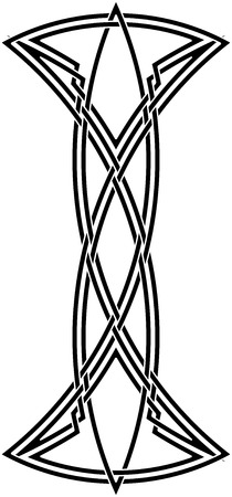 celtic symbol: Celtic knot #55 Illustration
