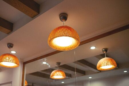 Lamp decorated in a restaurant Standard-Bild - 128754765