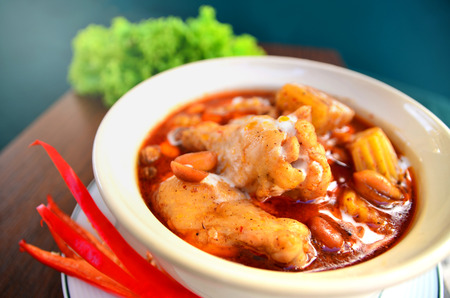 curry powder: Chicken with potato in  curry powder delicious Thaifood