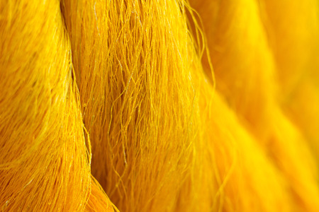 raw material: Silk is a valuable raw material for the production of apparel. Stock Photo